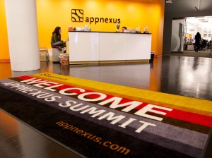 the-entrance-is-striking-decorated-with-the-signature-appnexus-orange-and-black-colors