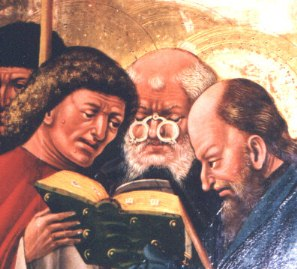 Apostle with glasses (1439)