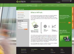 Page d'accueil d'AdTruth.