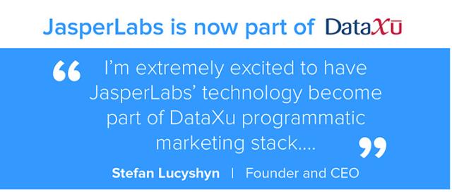 DSP DataXu achète JasperLabs, outil de création de bannières dynamiques (DCO)