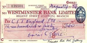 English_1956_Westminster_Bank_cheque_of_Doris_Ogilvie