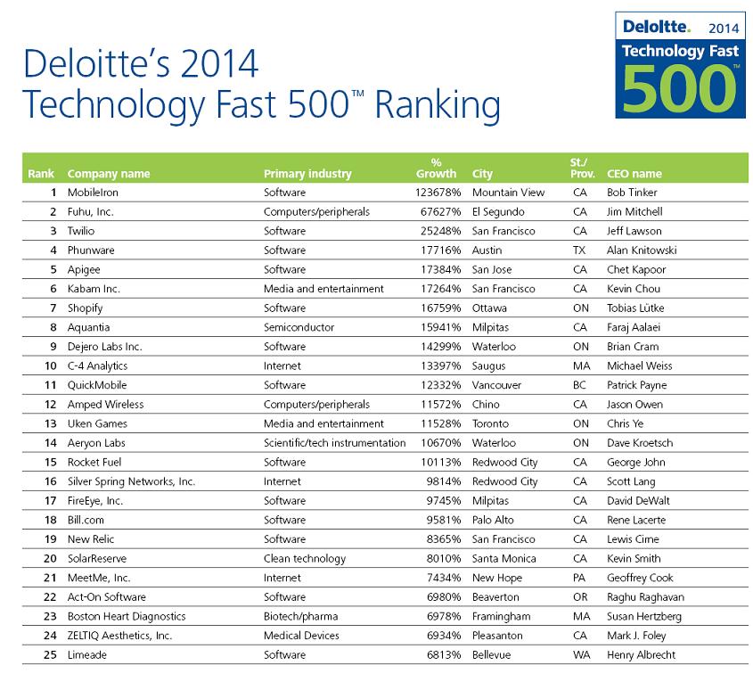 Performance mitigée des acteurs du digital au sein du classement Deloitte 500