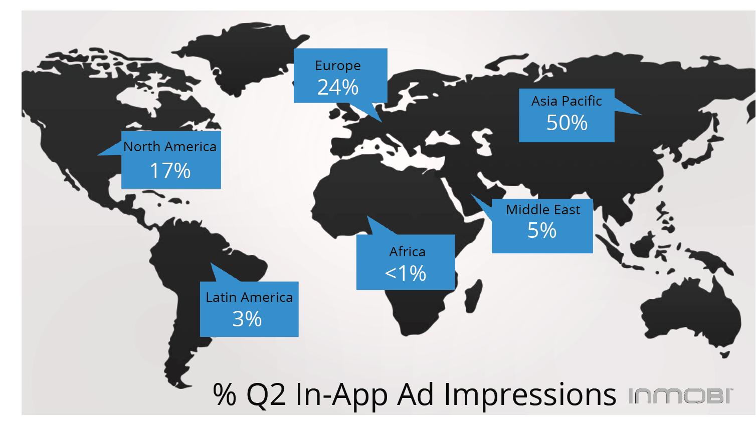 InMobi livre son état des lieux de la publicité In-App dans le monde