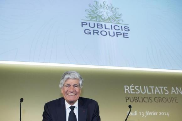 Maurice Levy, Chairman and Chief Executive Officer of Publicis Groupe, attends the company's 2013 annual results presentation in Paris