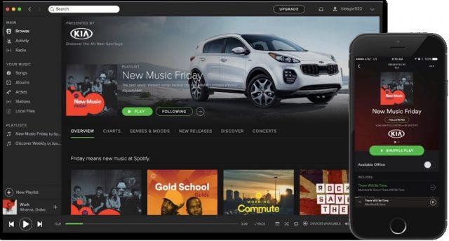 Les playlists sponsorisées de Spotify disponibles en France
