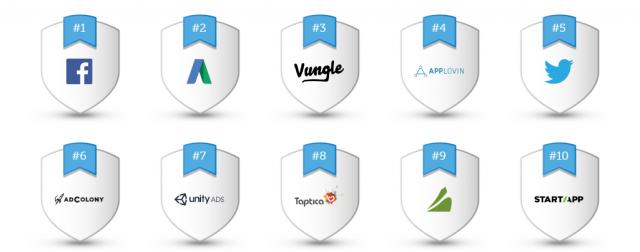 Classement AppsFlyer 2016.
