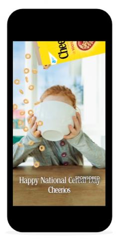 Snapchat géo filtre sponsorisé.