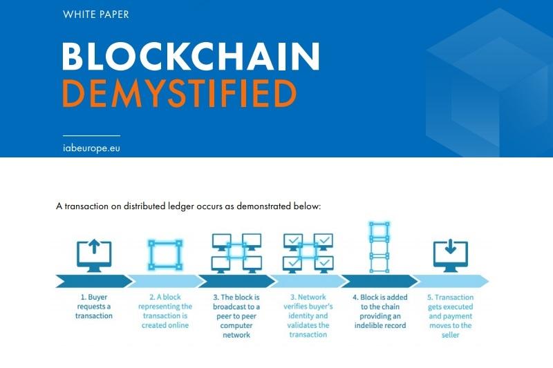 Blockchain: l'IAB Europe aide l'industrie à y voir plus clair grâce à son nouveau livre blanc